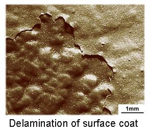 Delamination of Surface Coat